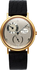 Timepieces:Wristwatch, Breguet, Ref. 3690, 18k Gold Anniversary Regulator Dial, Ltd Ed. 125/004, Circa 1996. ...