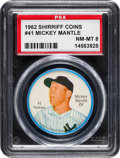 Baseball Cards:Singles (1960-1969), 1962 Shirriff Coins Mickey Mantle #41 PSA NM-MT 8....