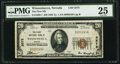 National Bank Notes:Nevada, Winnemucca, NV - $20 1929 Ty. 1 The First NB Ch. # 3575. ...