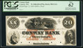 Conway, MA- Conway Bank $20 Sep. 12, 1854 as G12a Proof