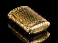 A Christian Petchler French 18K Gold Snuff Box, Paris, France, circa 1809-1822 Marks: CP (in diamond)