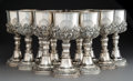 Silver & Vertu:Hollowware, A Set of Twelve Large Rococo-Style Partial Gilt Silver Goblets, probably Mexican, 20th century. Marks: STERLING, 925A, CC2... (Total: 12 Items)