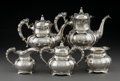 Silver Holloware, American:Tea Sets, A Five-Piece International Silver Co. Silver Tea and CoffeeService, Meriden, Connecticut, early 20th century. Marks: (logot...(Total: 5 Items)