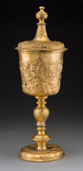 Decorative Arts, British:Other , An Elkington & Co. Gilt Copper Covered Standing Cup ElectrotypeReproduction, Birmingham, England, circa 1875. Marks: (effac...