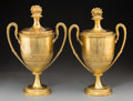 Decorative Arts, British:Other , A Pair of Elkington & Co. Gilt Copper Covered Trophy CupElectrotype Reproductions, Birmingham, England, circa 1875. Marks:... (Total: 2 Items)