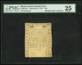 Colonial Notes:Rhode Island, Rhode Island September 5, 1776 $1/8 PMG Very Fine 25.. ...