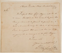 George Washington Letter Signed as Commander-in Chief of the Continental Army