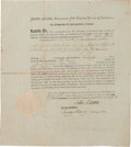 Autographs:U.S. Presidents, John Adams Privateer Commission Signed ...