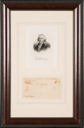 Autographs:U.S. Presidents, Thomas Jefferson Signature Removed from a 4 Languages Ship'sPapers. ...
