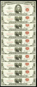 Small Size:Legal Tender Notes, Fr. 1536* $5 1963 Legal Tender Notes. Ten Consecutive Examples. . ... (Total: 10 notes)