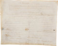 Military & Patriotic:Revolutionary War, Period Fair Copy of George Washington's Military Commission. ...