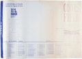 Miscellaneous, Blueprints for Coors Stadium in Denver, Colorado....
