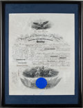 Autographs:U.S. Presidents, Woodrow Wilson Naval Appointment Signed As President....