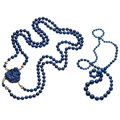 Estate Jewelry:Necklaces, Lapis Lazuli, Sodalite, Yellow Metal Necklaces. ... (Total: 2 Items)