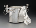 Silver & Vertu:Hollowware, An Emilia Castillo Silver-Plated Monkey Ice Bucket with Tongs, Taxco, Mexico, late 20th century. Marks: TO-85,... (Total: 2 )