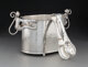 An Emilia Castillo Silver-Plated Monkey Ice Bucket with Tongs, Taxco, Mexico, late 20th century Marks: TO-85,... (Total:...