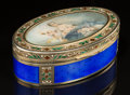 Silver Smalls:Snuff Boxes, A French Partial Gilt Silver and Enamel Snuff Box, possibly byThéophile Soyer, late 19th century. Marks: (boar), (boar),...