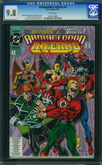 Armageddon: Inferno #4 (DC, 1992) CGC NM/MT 9.8 WHITE pages