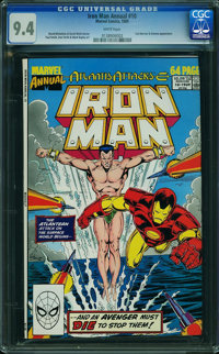 Iron Man Annual #10 (Marvel, 1989) CGC NM 9.4 WHITE pages