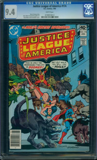 Justice League of America #174 (DC, 1980) CGC NM 9.4 WHITE pages