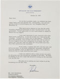 Autographs:U.S. Presidents, Richard Nixon Typed Letter Signed...