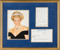 Autographs:Non-American, Diana, Princess of Wales Autograph Letter Signed....