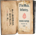 Military & Patriotic:Civil War, Union Soldier's Diary kept by Henry C. Rounds of the 21st Michigan Infantry....