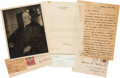 Autographs:U.S. Presidents, William H. Taft Group Lot Including 2 Letters, a Signed Photo, and a Clipped Signature....