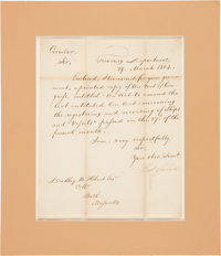Albert Gallatin Letter Signed