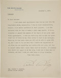 Autographs:U.S. Presidents, Calvin Coolidge Typed Letter Signed...