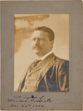 Photography:Signed, Theodore Roosevelt Photograph Signed as President....