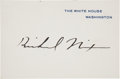 Autographs:U.S. Presidents, Richard Nixon Signed White House Card. ...