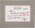 "Autographs:U.S. Presidents, George H.W. Bush Autograph Note Signed ""George"" as President...."