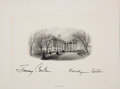 Autographs:U.S. Presidents, Jimmy and Rosalynn Carter Signed Engraved White House Vignette...