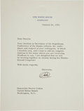 Autographs:U.S. Presidents, Richard M. Nixon Typed Letter Signed with Initials on White House Letterhead. ...
