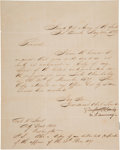 Autographs:U.S. Presidents, Zachary Taylor Letter Signed ...