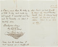 Autographs:Authors, Charles Dickens Autograph Letter Signed with Signed TransmittalCover....