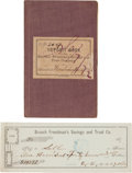 Miscellaneous, National Freedman's Savings Book and Check. ...