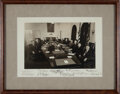 Photography:Signed, Harry S. Truman Cabinet Photograph Signed....