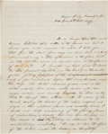 Military & Patriotic:Civil War, George McKee of the 11th Illinois Volunteer Infantry, Letter Describing the Plight of Black Soldiers and the Black Population ...