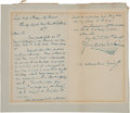 Autographs:Authors, Charles Dickens Autograph Letter Signed ...