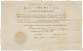 Autographs:U.S. Presidents, Abraham Lincoln Appointment Signed ...