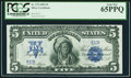 Large Size:Silver Certificates, Fr. 275 $5 1899 Silver Certificate PCGS Gem New 65PPQ.. ...