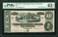 Confederate Notes:1864 Issues, A/C Plate Letter Error T68 $10 1864 PF-16 Cr. 545A.. ...