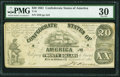 Confederate Notes:1861 Issues, T18 $20 1861 PF-26 Cr. 133A.. ...