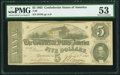 Confederate Notes:1863 Issues, A/D Plate Letter Error T60 $5 1863 PF-6 Cr. 451 A/D Plate LetterError .. ...