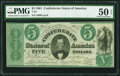 Confederate Notes:1861 Issues, T33 $5 1861 PF-10 Cr. 254Bb.. ...