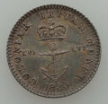 """British West Indies, British West Indies: British Colony - George IV. Pair of""""Anchor Money"""" Coins,... (Total: 2 coins)"""