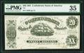 Confederate Notes:1861 Issues, T9 $20 1861 PF-6 Cr. 28.. ...