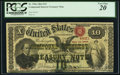 Large Size:Compound Interest Treasury Notes, Fr. 190a $10 1864 Compound Interest Treasury Note PCGS Very Fine20.. ...